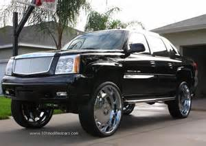 Cadillac On 30 Inch Rims Cadillac Escalade Gmt800 With 30 Quot Inch Wheels Dubs