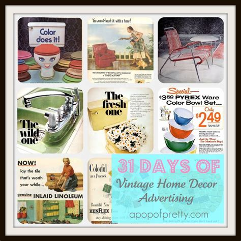 home decor ads vintage home decor ads a pop of pretty blog canadian