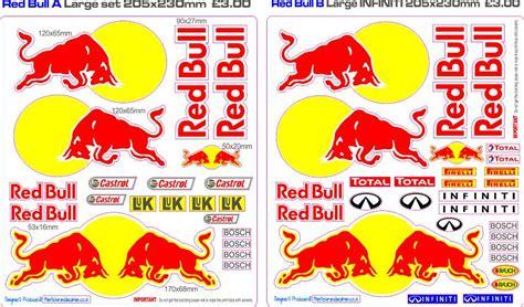 Helm Aufkleber Red Bull by Red Bull Helmet Sticker Kit Autos Post