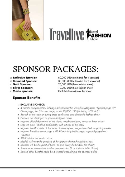 Letter Sle For Sponsorship Summer Vacation Fashion For
