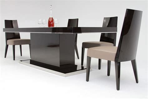 modern breakfast table noble modern ebony lacquer dining table