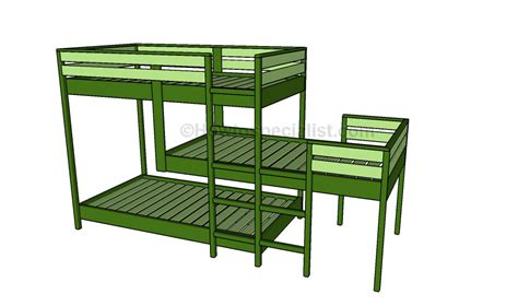 cheap triple bunk beds triple bunk bed plans howtospecialist how to build step by step diy plans