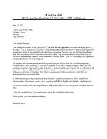 Cover Letter Exles Manager by Property Manager Cover Letter Sle Resume Cover Letter