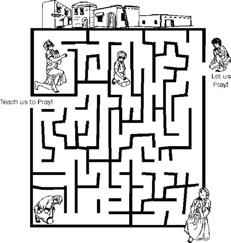 printable mazes christian prayer maze