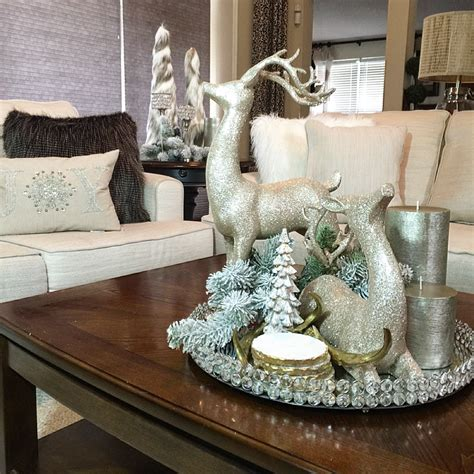 decorating coffee table for christmas ponterest diy faux fur trees be my guest with