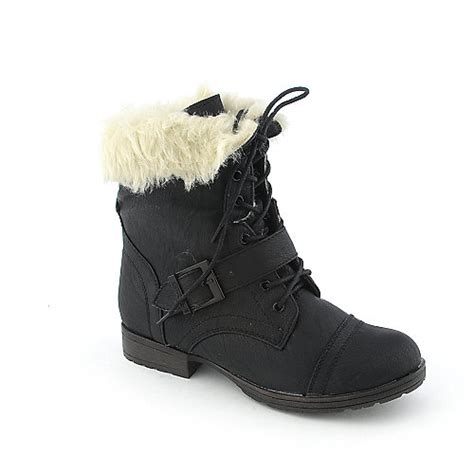 shiekh denver 91 womens low heel fur mid calf boot