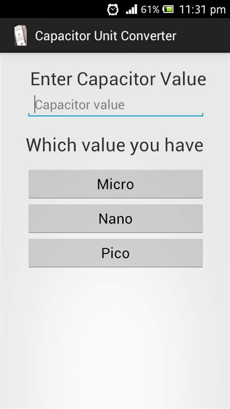 capacitor unit converter capacitor unit converter android apps on play