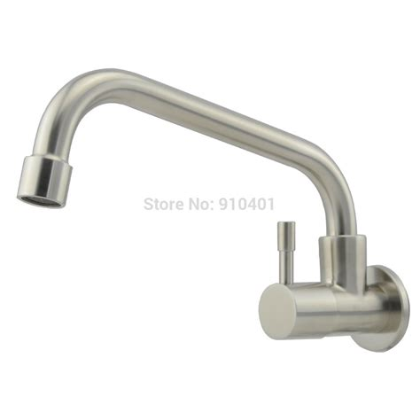 wall mount kitchen faucets wholesale and retail promotion wall mounted kitchen faucet single handle for cold water facuet
