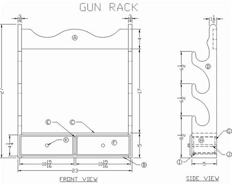 gun cabinet plans pdf locking wall gun rack plans furnitureplans