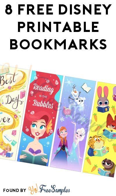 printable bookmarks disney 8 free disney printable bookmarks yo free sles