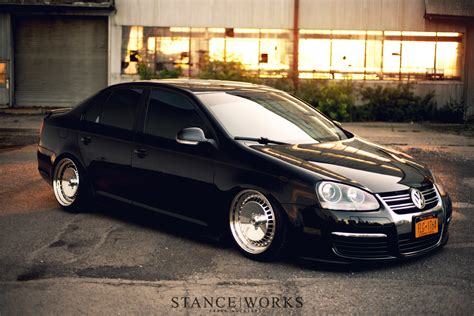volkswagen gli slammed stance works a mkv jetta on polished schmidt wheels