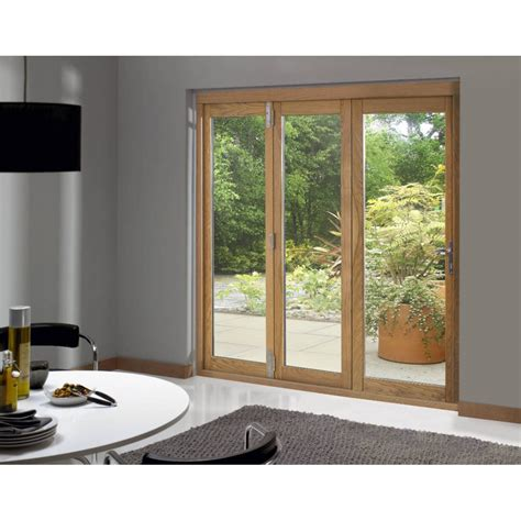 Trufold 46 Supreme External Pre Finished Oak Folding Patio Doors Folding