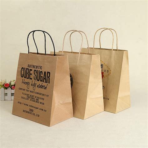 Harga Paper Bag Custom by 500pcs Lot Custom Printed Logo Gift Kraft Paper Bag