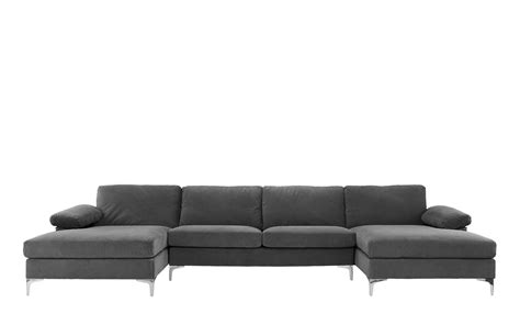 amanda modern velvet large sectional sofa amanda xl modern velvet large sectional sofa sofamania com