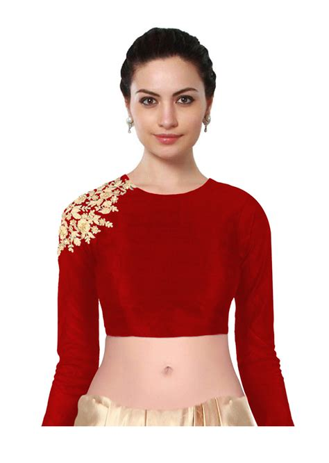 buy rozy fashion designer colored embroidered blouse for at 40 in india kraftly