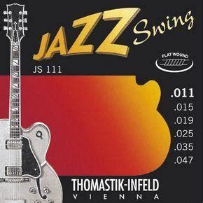 thomastik jazz swing thomastik js111 jazz swing electric flatwound light 11 47