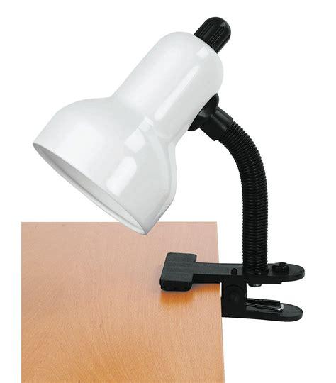 lite source ls 111wht clip on clip on desk l