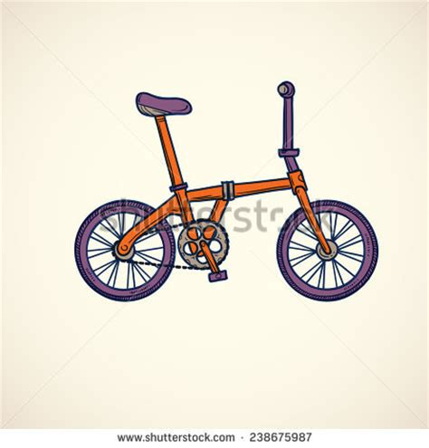 doodle bmx bicycle isolated stock vectors vector clip