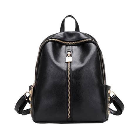 Bag Ransel Fashion 1 small backpacks rivet zipper pu leather student backpack preppy fashion bag s
