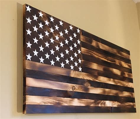 woodworking america burnt wooden american flag by countryboycraftin on etsy