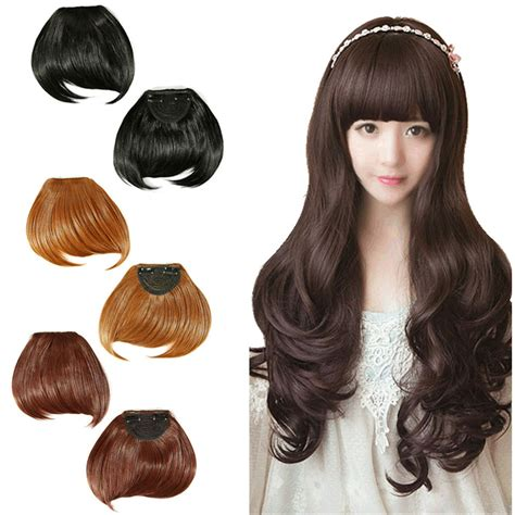 fake bangs clip for thin hair hair fringe style fake short fringe bang front clip in