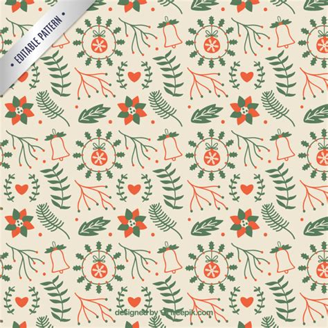 cute christmas pattern cute floral christmas pattern vector free download