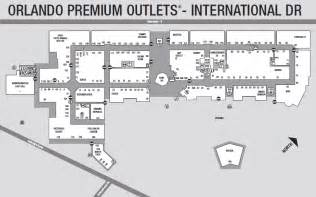 premium outlet map map of premium outlet mall on i drive in orlando