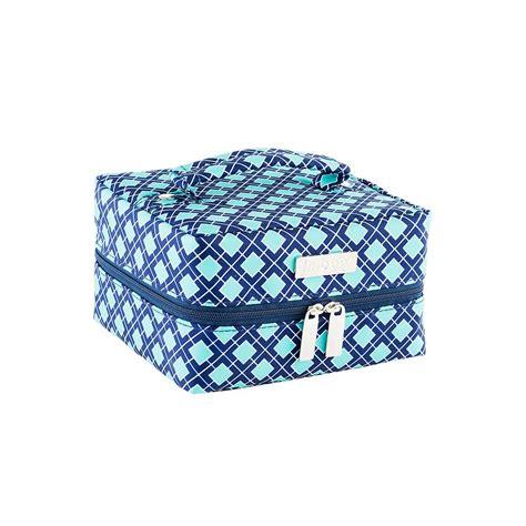 Travel Jewelry Organizer in bag navy aqua tile travel jewelry organizer the