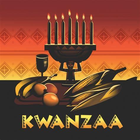 kwanzaa background design vector free download