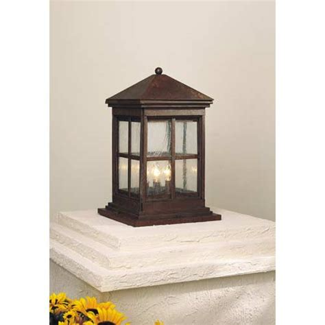 Patio Column Lights Berkeley Column Mount Exterior Light Minka Lavery Pier Mount Outdoor Post Lighting Outdoor