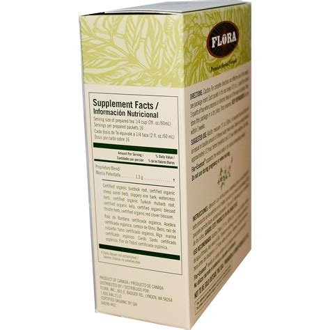 Flor Essence Detox Diet by Flora Flor Essence Detox Formula Herbal Tea Blend 2