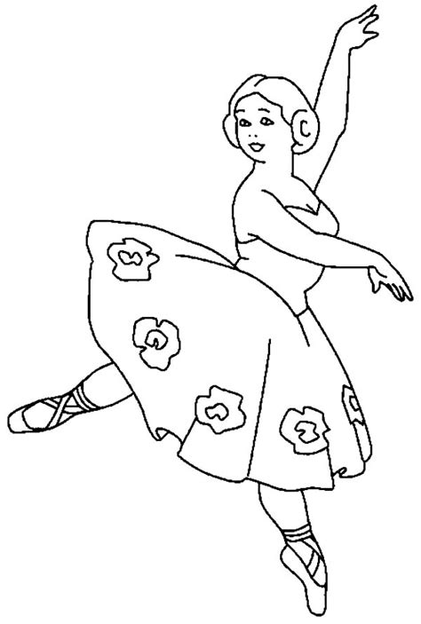 ballerina tutu coloring page ballerina girl with flower tutu coloring pages coloring sky