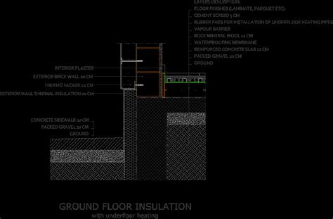 Ground Floor With Underfloor Heating   Connection With