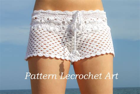 pattern crochet shorts crochet pattern white beach shorts and shorts color of summer