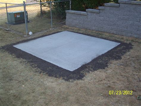Cement Pad For Shed by Concrete Customer In West Des Moines Terry S Quality