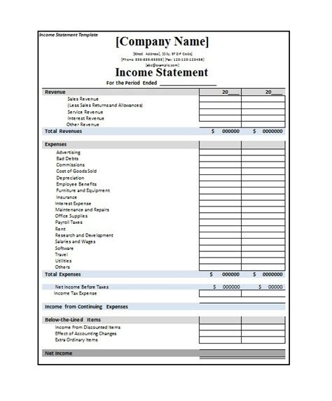 multi step income statement template excel 27 free income statement exles templates single