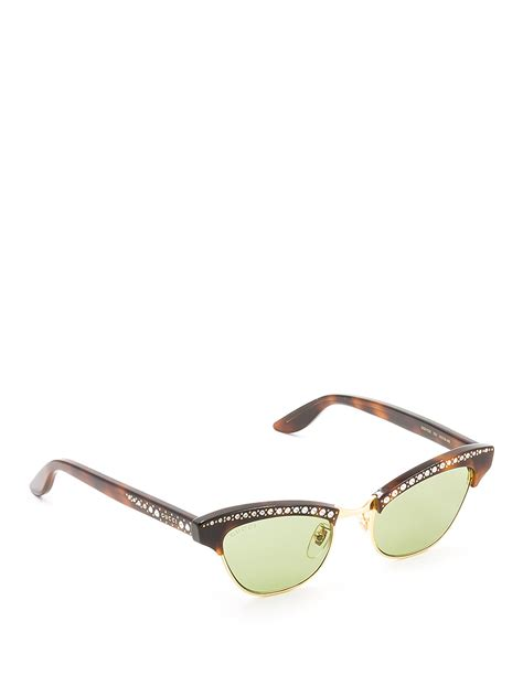 Sunglasses Gucci Original 1 cat eye sunglasses with rhinestones by gucci sunglasses ikrix