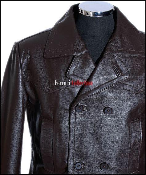 ww2 german u boat leather jacket men s kriegsmarine brown ww2 german u boat reefer leather