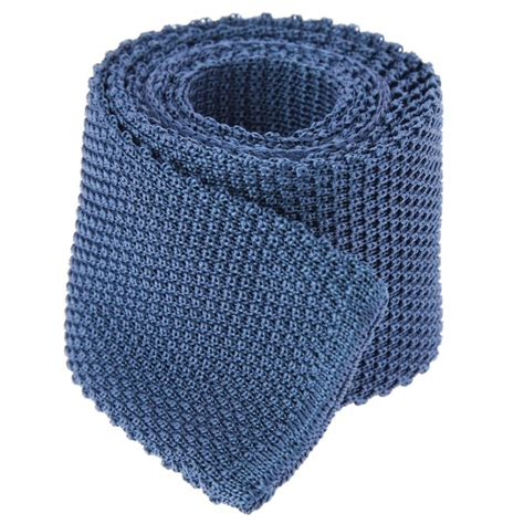 blue knit tie steel blue knit tie blue tie knitted tie the house