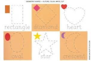 Pics photos shapes outline cut write color 6 basic geometric shapes