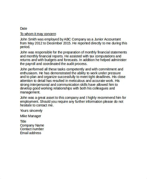 Reference Letter For Coworker Exle Sle Reference Letter For Coworker Exles In Pdf Word