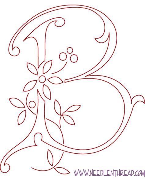 monogram for embroidery letter b needlenthread
