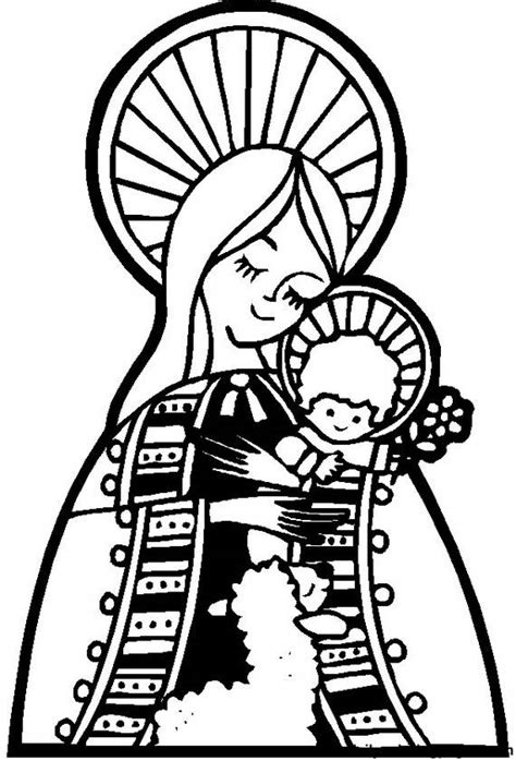 coloring page blessed virgin mary free coloring pages of virgin mary