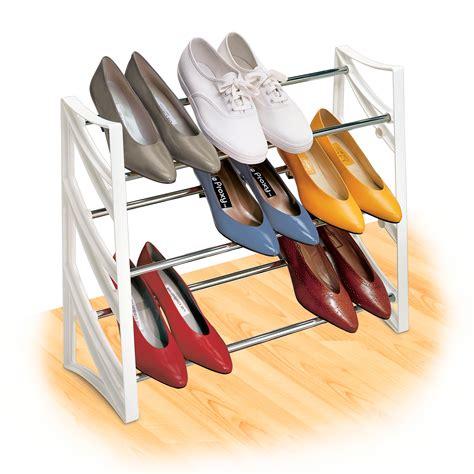 spin wheel shoe storage lynk 174 9 pair convertible shoe rack organizer 3 tier