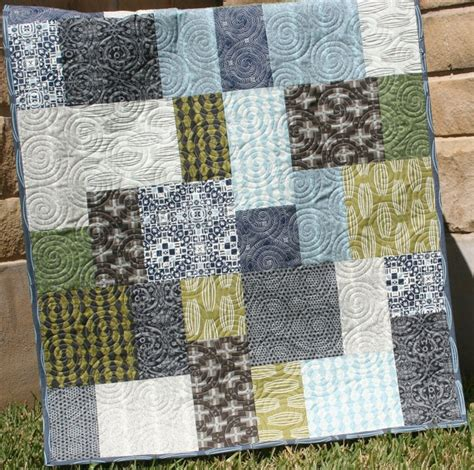 Nature Quilts by Unique Baby Boy Quilt Curious Nature Earth Tones Modern