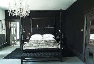 black bedroom furniture and wall color the interior