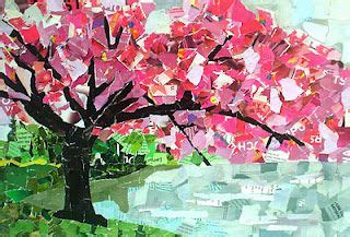 cherry tree magazine collage from torn paper so awesome should be the dc cherry blossom race poster things