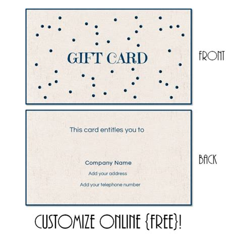 free gift card design template gift card template