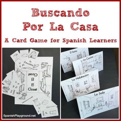 printable spanish board games printable spanish card game for house vocabulary speak