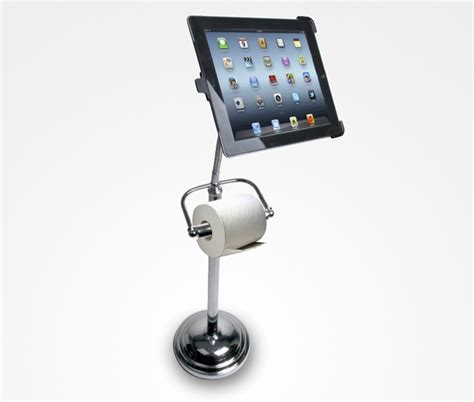 ipad holder bathroom bathroom pedestal stand with roll holder for ipad